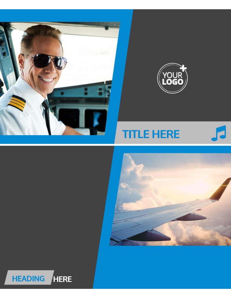 Above The Clouds Airline Flyer Template Preview 2