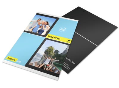 Family Travel Agency Flyer Template preview