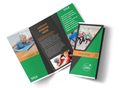 Strength Training Tri-Fold Brochure Template preview