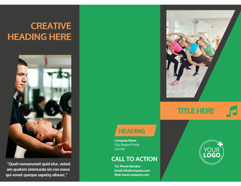 Gym Time Brochure Template Preview 2