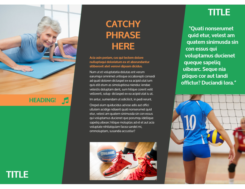 Gym Time Brochure Template Preview 3