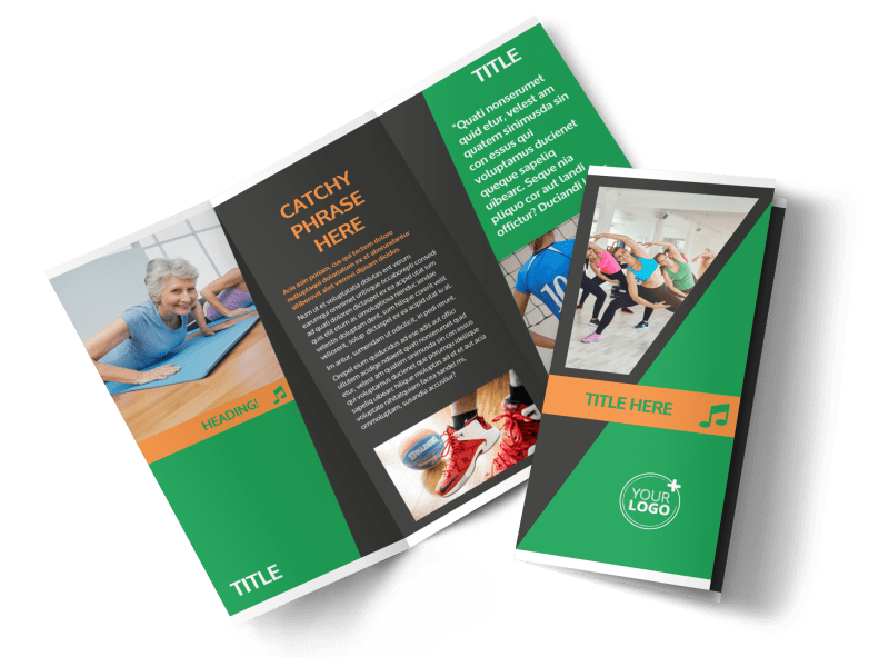 Gym Time Brochure Template Preview 1