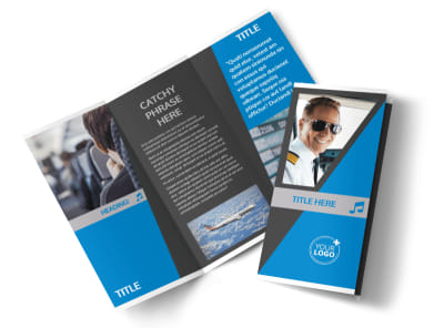 Above The Clouds Airline Tri-Fold Brochure Template