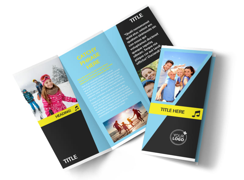 Family Travel Agency Tri-Fold Brochure Template