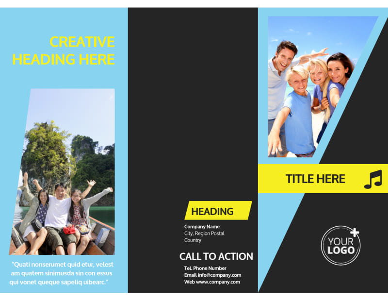 Family Travel Agency Brochure Template Preview 2