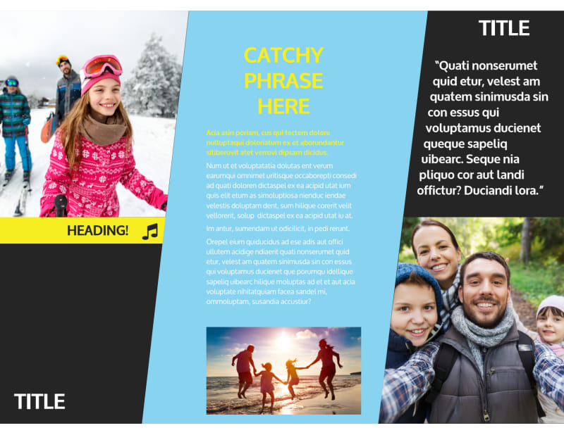 Family Travel Agency Brochure Template Preview 3