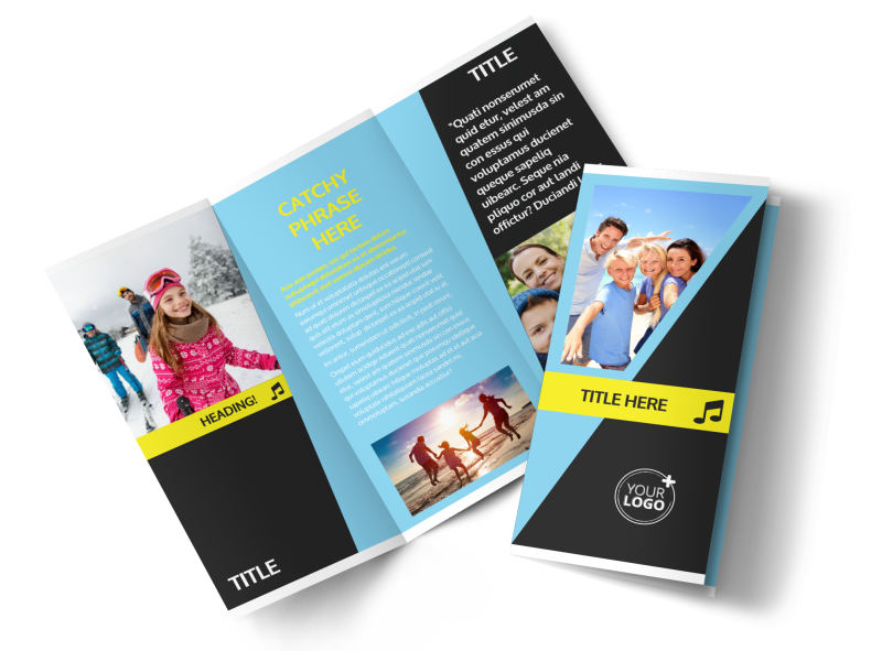 Family Travel Agency Brochure Template Preview 1