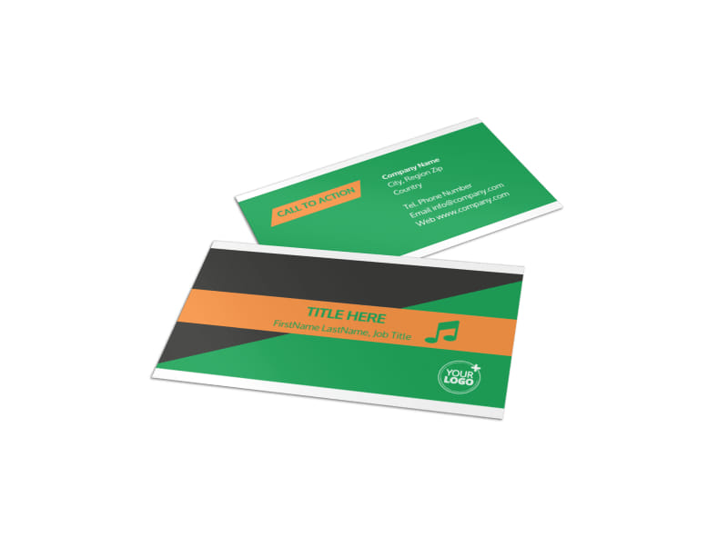 Strength Training Business Card Template