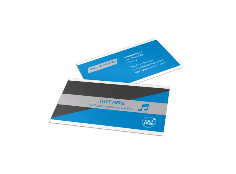 Above The Clouds Airline Business Card Template Preview 1