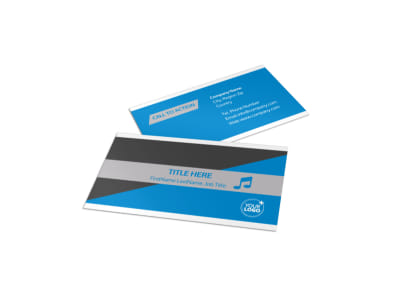 Above The Clouds Airline Business Card Template preview