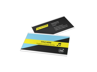 Family Travel Agency Business Card Template