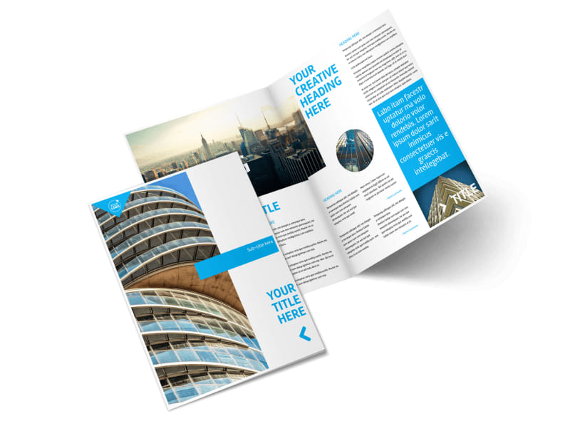 Commercial Real Estate Property Bi-Fold Brochure Template 2