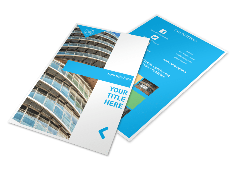 Commercial Real Estate Property Flyer Template Preview 1