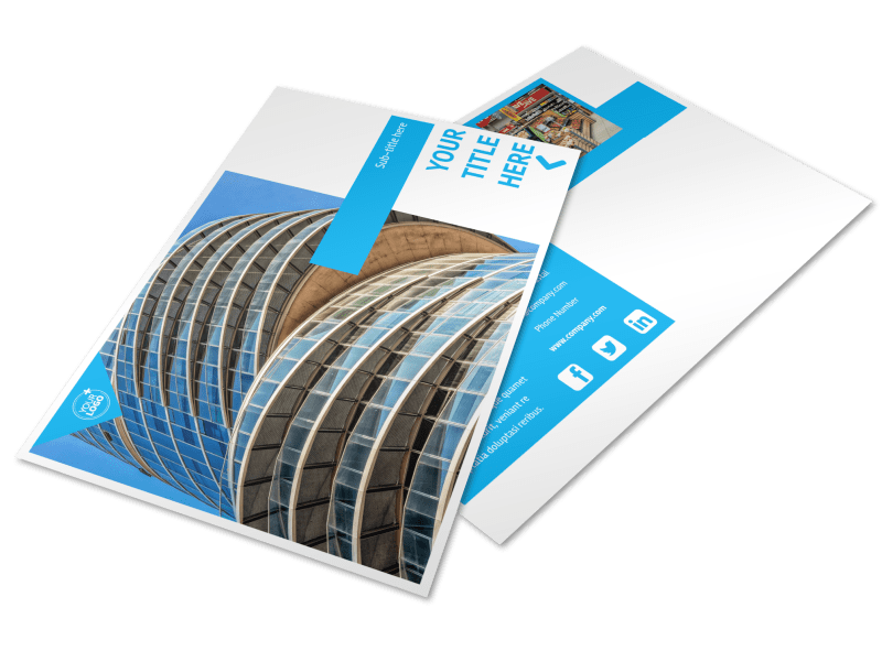 Commercial Real Estate Property Postcard Template Preview 1