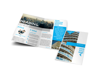 Commercial Real Estate Property Bi-Fold Brochure Template
