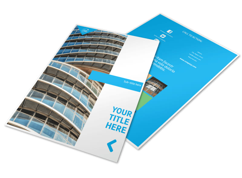 Commercial Real Estate Property Flyer Template Mycreativeshop