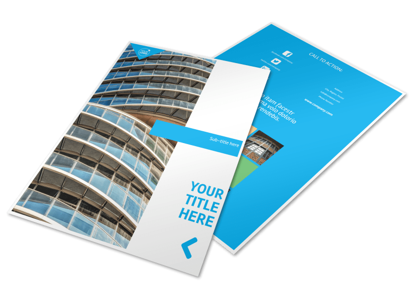 Commercial Real Estate Property Flyer Template