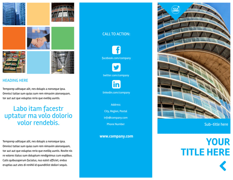 Commercial Real Estate Property Brochure Template Preview 2