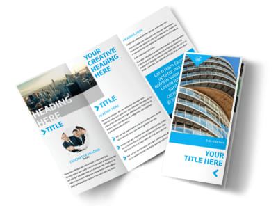 Commercial Real Estate Property Tri-Fold Brochure Template