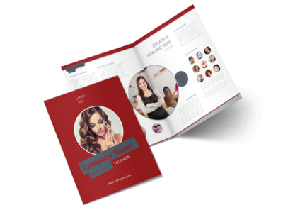Natural Day Spa & Massage Bi-Fold Brochure Template 2 preview
