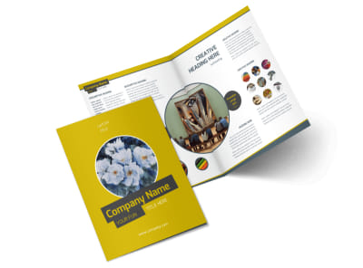 Art & Design Institute Bi-Fold Brochure Template 2 preview
