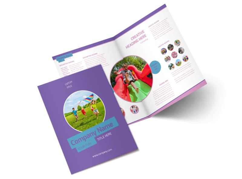 Party Activities Bi-Fold Brochure Template 2