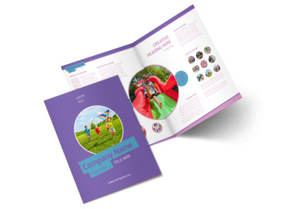 Party Activities Bi-Fold Brochure Template 2
