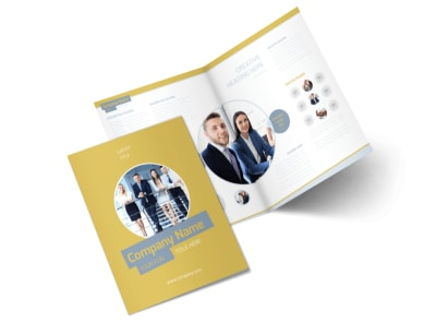 Top PR Firm Bi-Fold Brochure Template 2