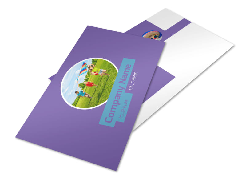 Party Activities Postcard Template 2