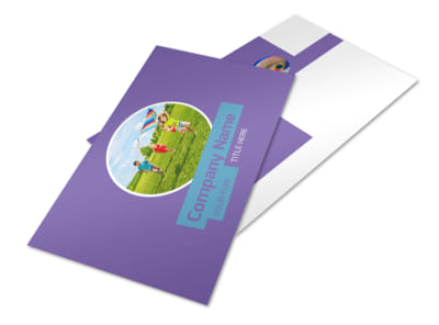 Party Activities Postcard Template 2 preview