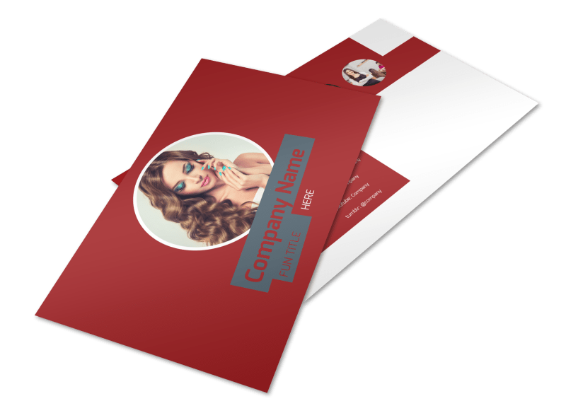 Beauty & Nail Spa Postcard Template Preview 1