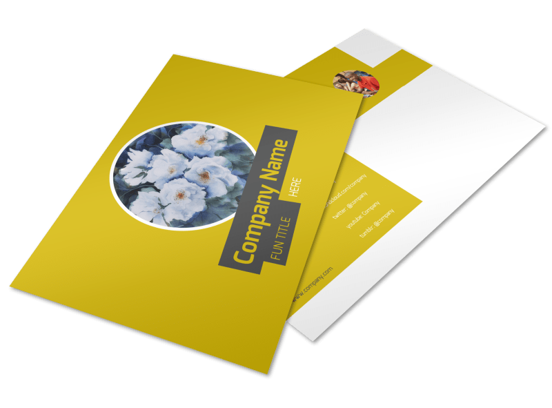Art & Design Institute Postcard Template Preview 1