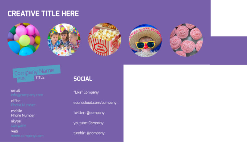 Party Activities Postcard Template Preview 3