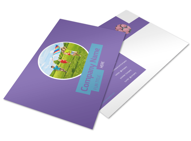 Party Activities Postcard Template Preview 1