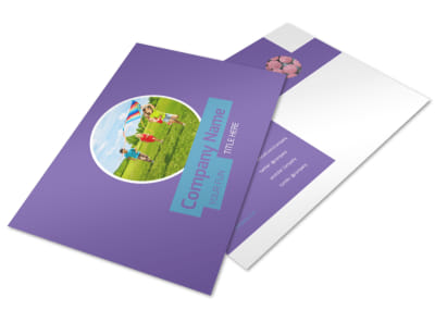 Party Activities Postcard Template preview