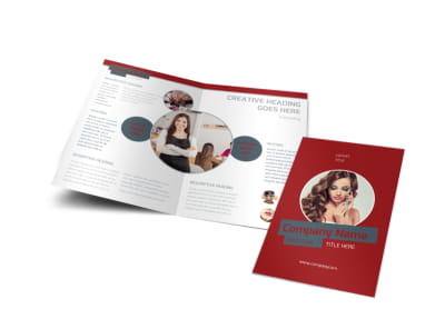 Natural Day Spa & Massage Bi-Fold Brochure Template preview