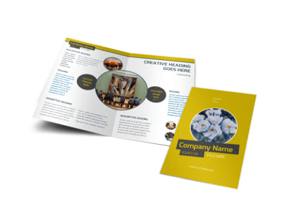Art & Design Institute Bi-Fold Brochure Template preview
