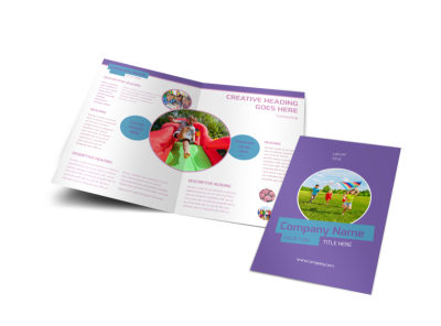 Party Activities Bi-Fold Brochure Template
