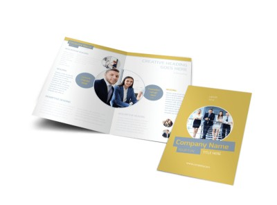 Top PR Firm Bi-Fold Brochure Template