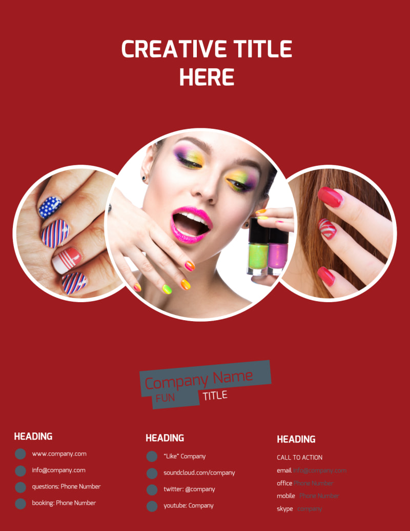 Beauty & Nail Spa Flyer Template Preview 3