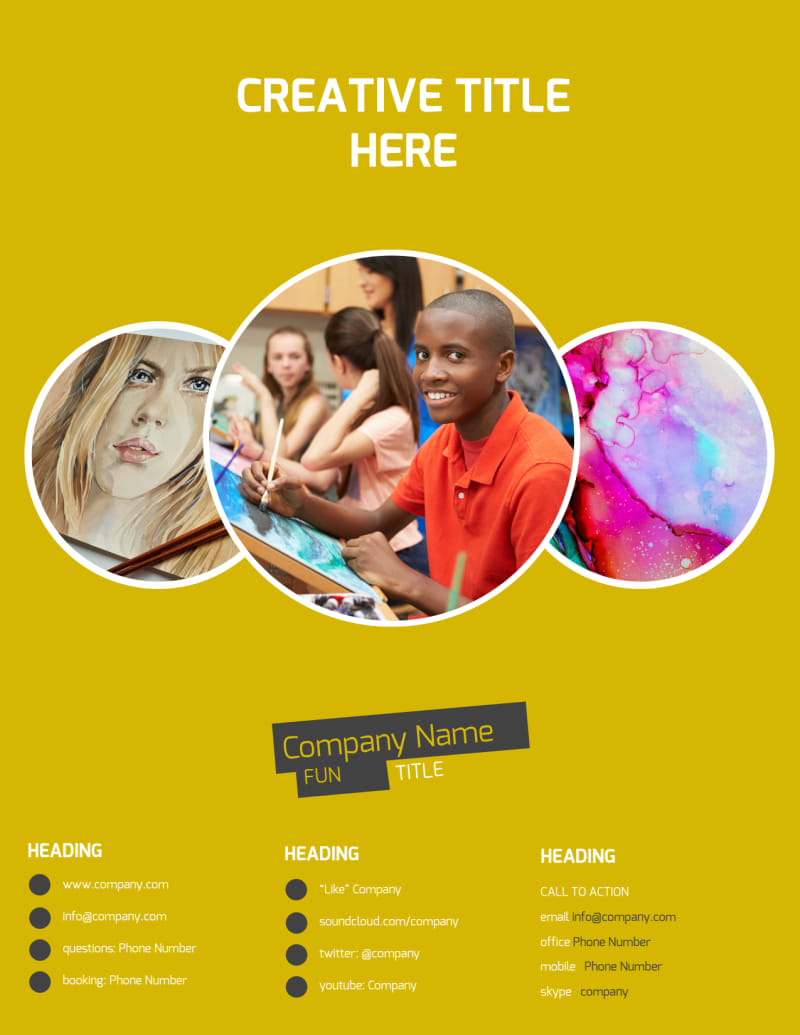 Art & Design Institute Flyer Template Preview 3