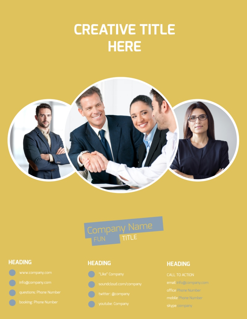 Top PR Firm Flyer Template Preview 3
