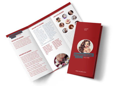 Natural Day Spa & Massage Tri Fold Brochure Template preview