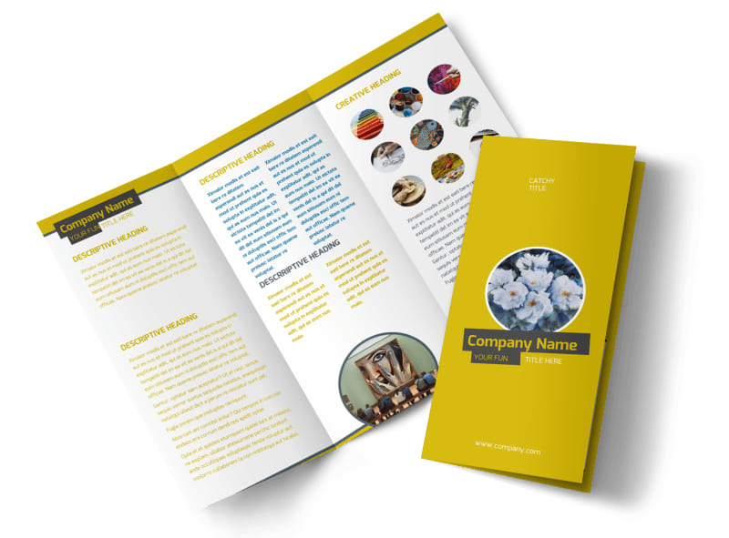 Art design institute brochure template mycreativeshop for Brochure design for training institute