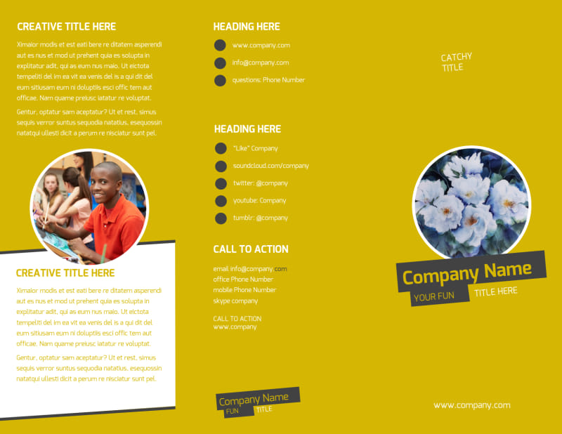 Art & Design Institute Brochure Template Preview 2