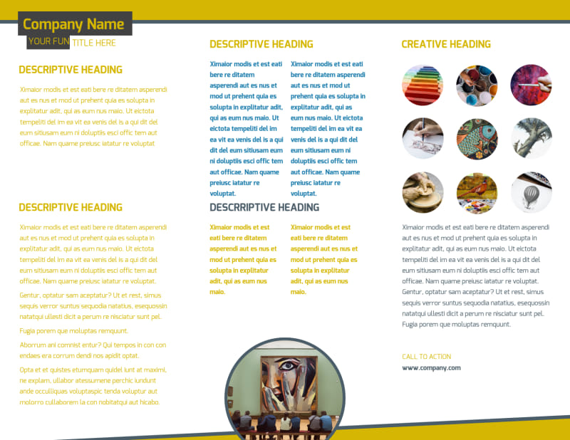 Art & Design Institute Brochure Template Preview 3