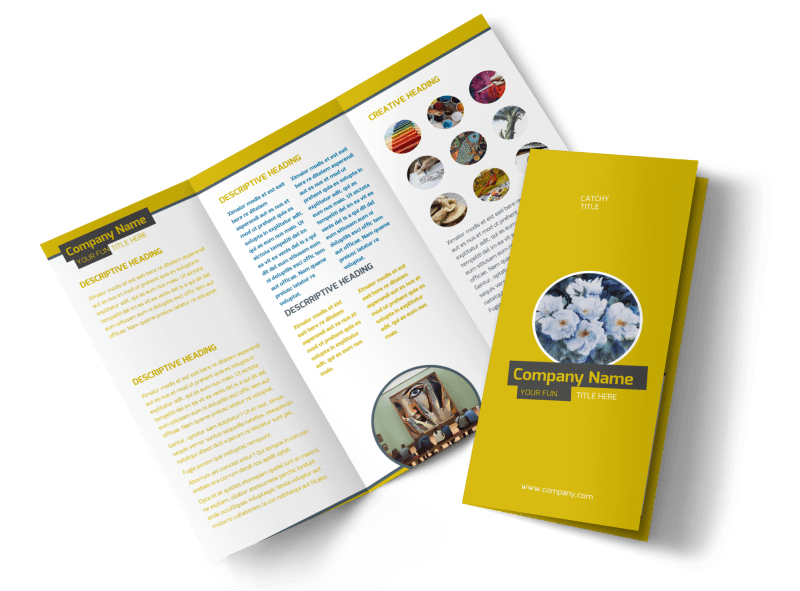 Art & Design Institute Brochure Template Preview 1