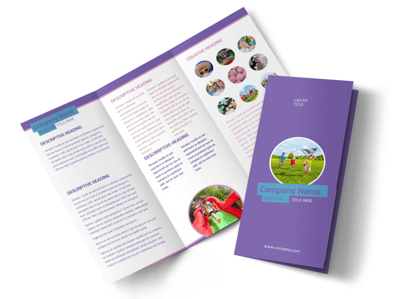 Party Activities Tri-Fold Brochure Template