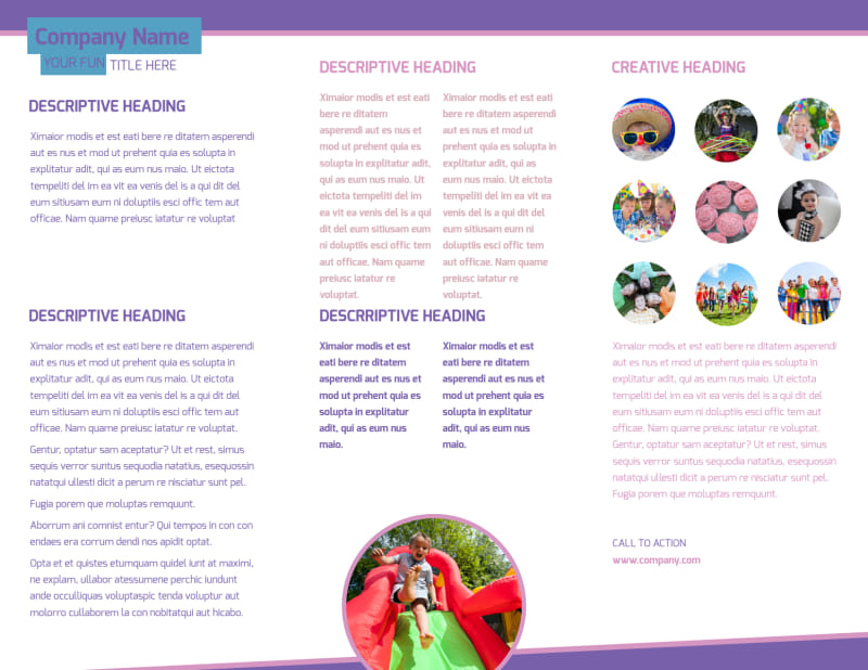 Party Activities Brochure Template Preview 3