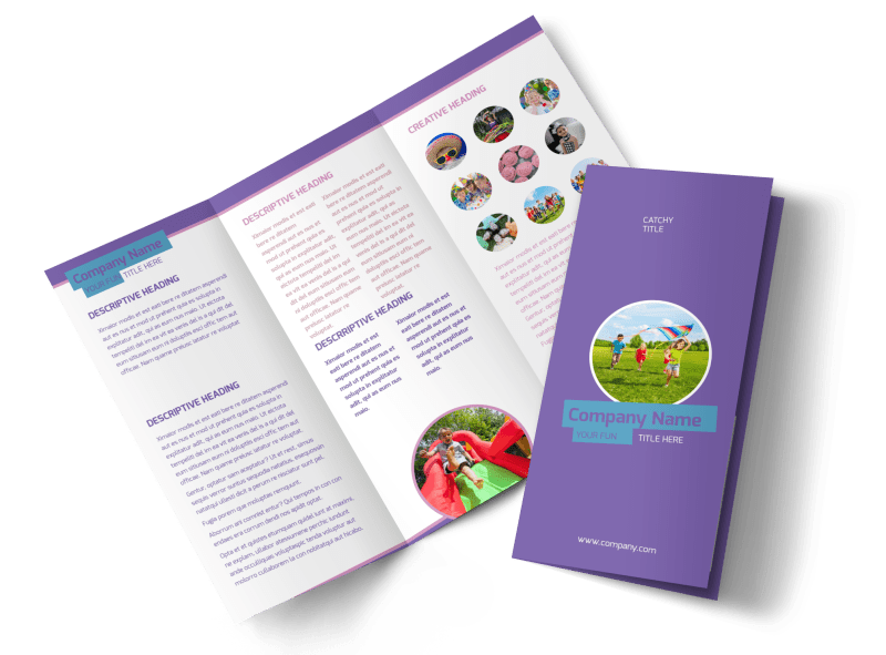 Party Activities Brochure Template Preview 1